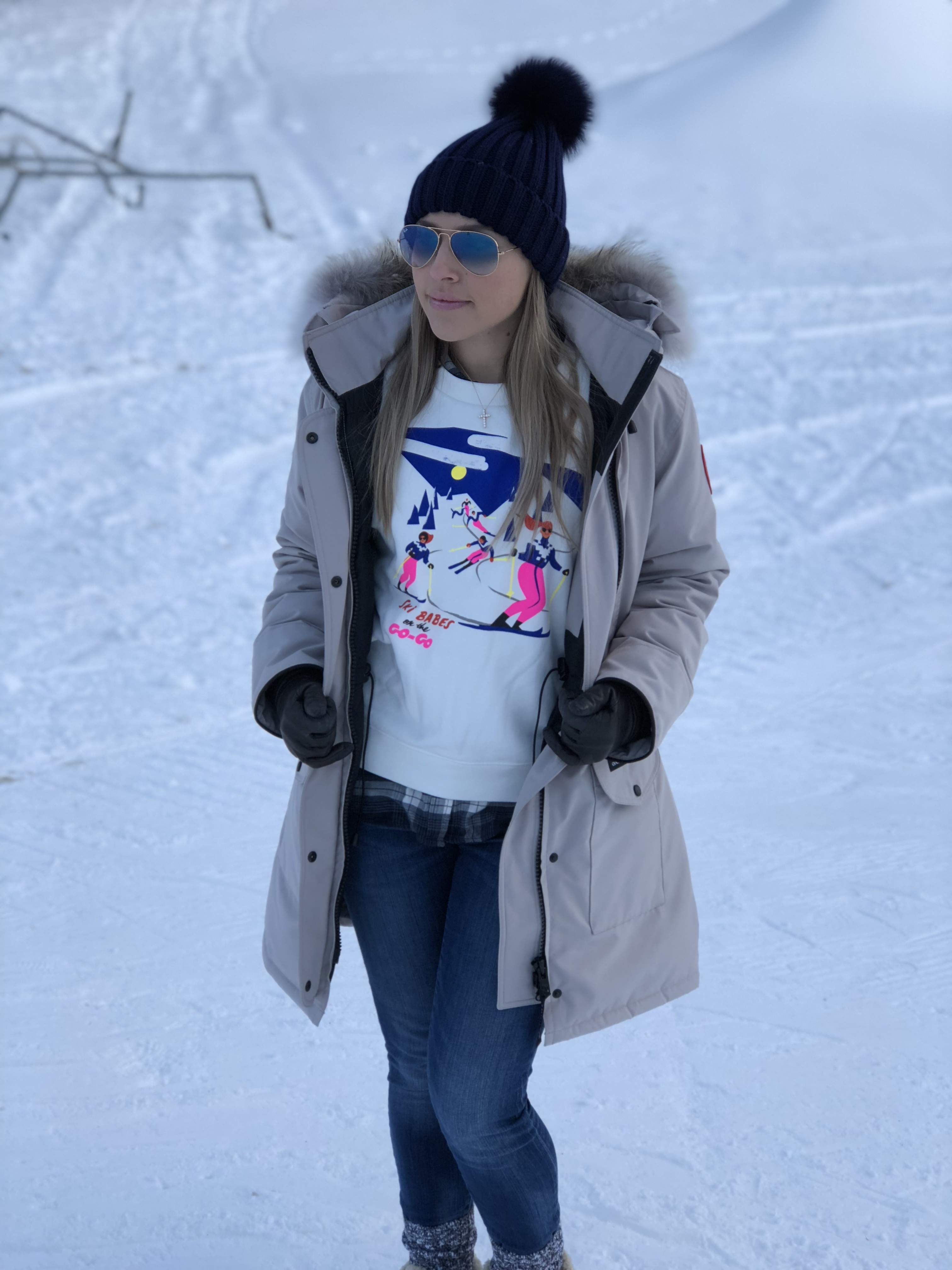 THELMA: We Love Them Snow Bunnies!